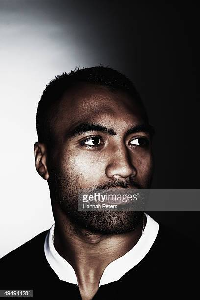Victor Vito of the All Blacks poses during a New Zealand All Blacks portrait session on May 26 2014 in Wellington New Zealand