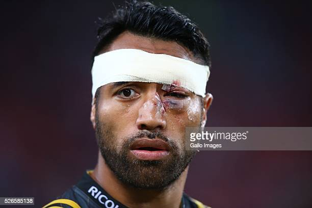 Victor Vito of the Hurricanes during the Super Rugby match between Emirates Lions and Hurricanes at Emirates Airline Park on April 30 2016 in...