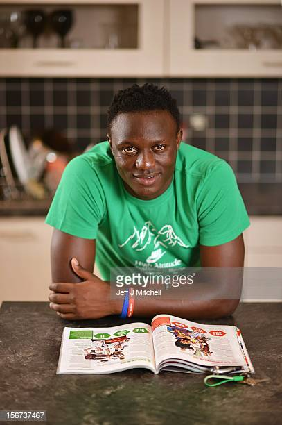 Victor Wanyama, 21 years, Celtic midfielder and Kenyan International footballer relaxes at his home on November 15, 2012 in Glasgow, Scotland. Having...