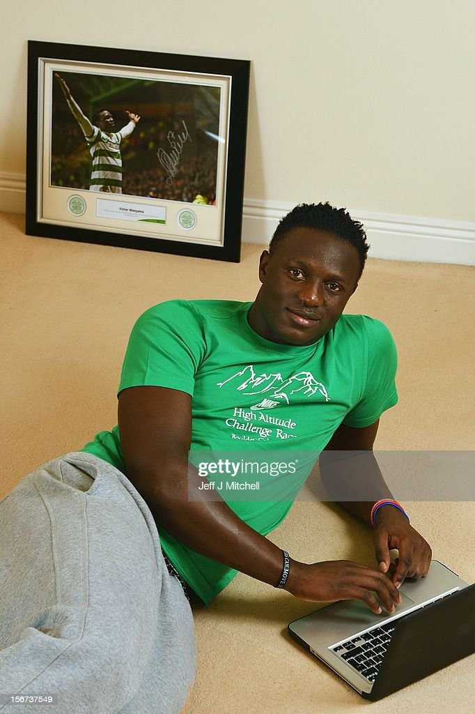 Victor Wanyama, 21 years, Celtic midfielder and Kenyan International footballer relaxes at his home on November 15, 2012 in Glasgow, Scotland. Having scored against the mighty Barcelona a fortnight ago in Celtic's 2-1 UEFA Champions League victory, highly rated Celtic midfielder Victor Wanyama will be hoping to continue his fine form away to Benfica in Lisbon this evening.