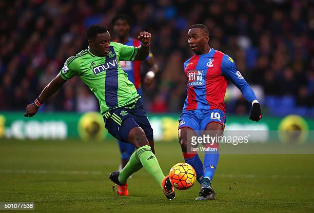 Victor Wanyama of Southampton and Yannick Bolasie of Crystal Palace during the Barclays Premier League match between Crystal Palace and Southampton...