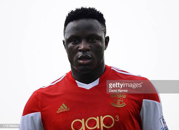 Victor Wanyama of Southampton looks on during a friendly match between Southampton FC and UE Llagostera at the Josep Pla i Arbones Stadium on July 17...