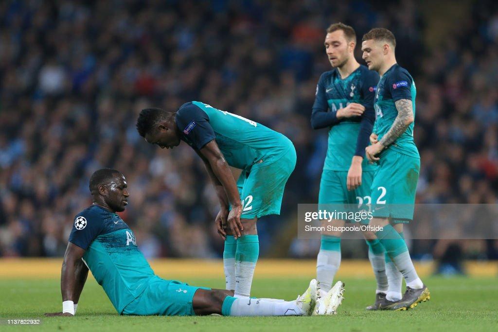Manchester City v Tottenham Hotspur - UEFA Champions League Quarter Final: Second Leg : Nyhetsfoto