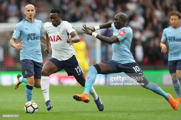 Victor Wanyama of Tottenham and Mohamed Diame of Newcastle in action during the Premier League match between Tottenham Hotspur and Newcastle United...