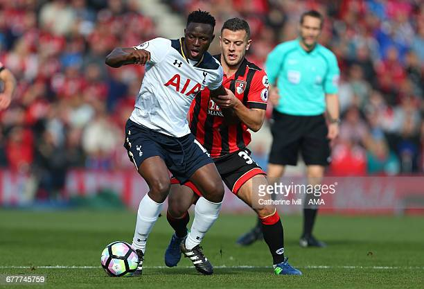 Victor Wanyama of Tottenham Hotspur and Jack Wilshere of Bournemouth during the Premier League match between AFC Bournemouth and Tottenham Hotspur at...