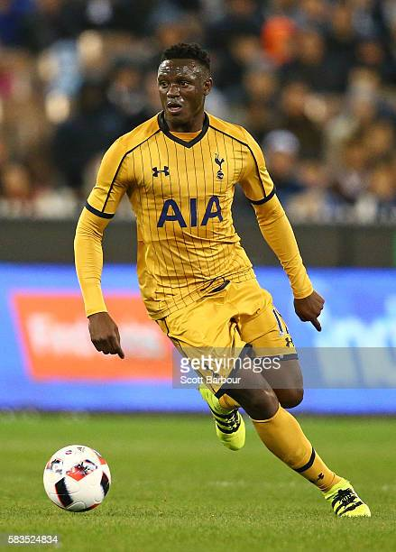 Victor Wanyama of Tottenham Hotspur controls the ball during the 2016 International Champions Cup match between Juventus FC and Tottenham Hotspur at...