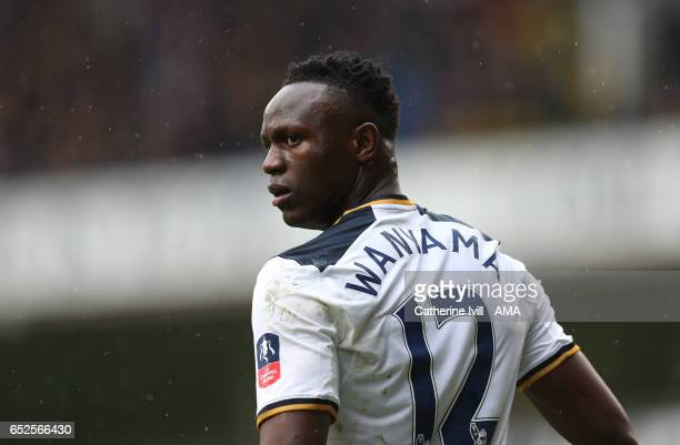 Victor Wanyama of Tottenham Hotspur during The Emirates FA Cup QuarterFinal match between Tottenham Hotspur and Millwall at White Hart Lane on March...
