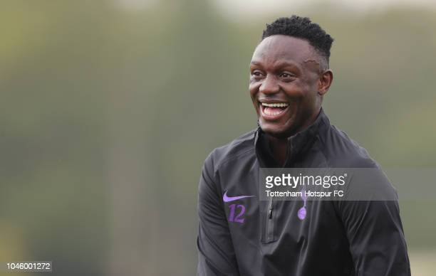 Victor Wanyama of Tottenham Hotspur during the Tottenham Hotspur training session at Tottenham Hotspur Training Centre on October 5 2018 in Enfield...