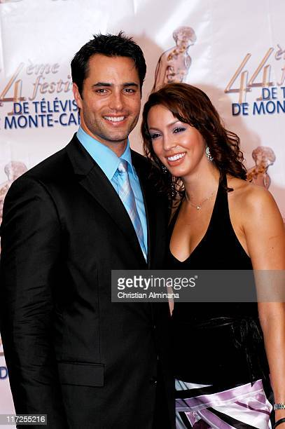 Victor Webster and guest during 44th Monte Carlo Television Festival Beach Club Party Arrivals at Monte Carlo Beach Hotel in Monte Carlo Monaco
