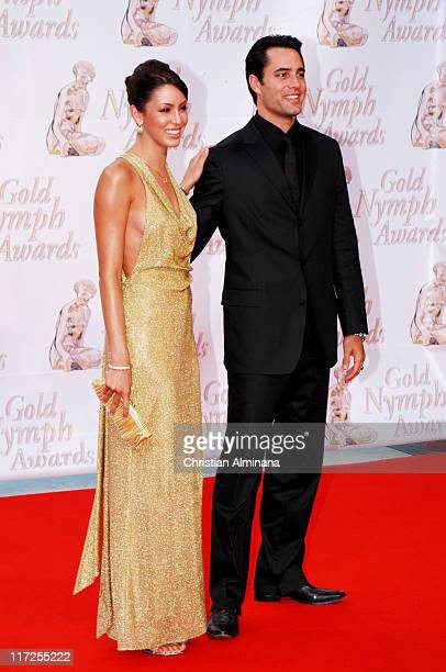 Victor Webster and guest during 44th Monte Carlo Television Festival Closing Ceremony Arrivals at Grimaldi Forum in Monte Carlo Monaco
