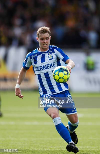 Victor Wernersson of IFK Goteborg during the Allsvenskan match between BK Hacken and IFK Goteborg at Bravida Arena on May 25 2019 in Gothenburg Sweden