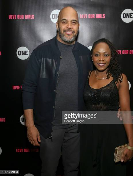 Victor Williams and Zia Williams attend the Danai x One x Love Our Girls celebration at The Top of The Standard on February 12 2018 in New York City