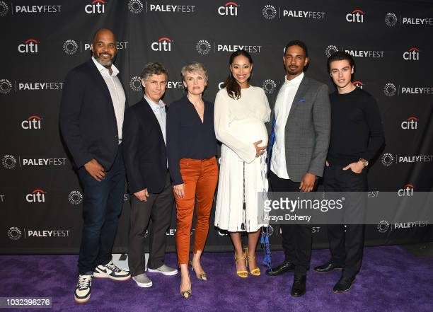 Victor Williams Chris Parnell Stephnie Weir Amber Stevens West Damon Wayans Jr and Felix Mallard from Happy Together attends The Paley Center for...