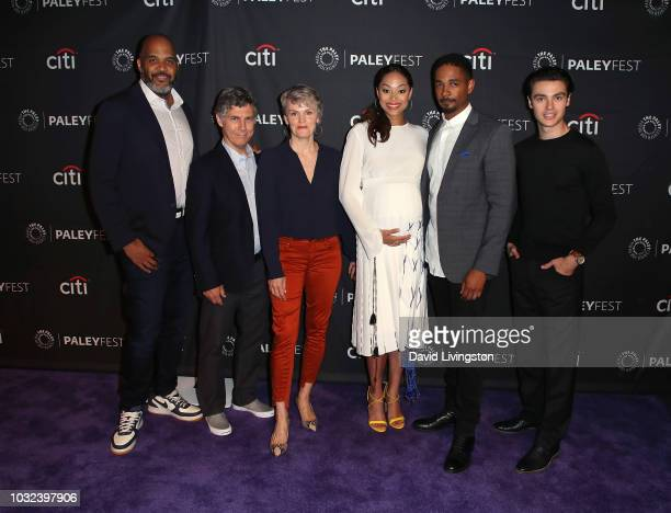 Victor Williams Chris Parnell Stephnie Weir Amber Stevens West Damon Wayans Jr and Felix Mallard from Happy Together attend The Paley Center for...