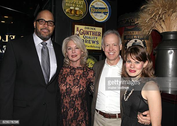 Victor Williams Michele Pawk Reed Birney and Celia KeenanBolger attending the opening Night Party for Playwrights Horizons' World Premiere Production...