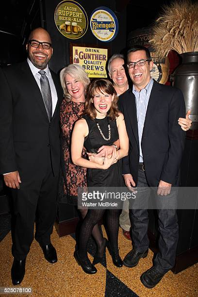 Victor Williams, Michele Pawk, Reed Birney, Celia Keenan-Bolger and Adam Bock attending the opening Night Party for Playwrights Horizons' World...