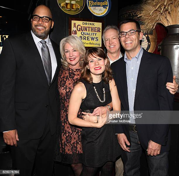 Victor Williams Michele Pawk Reed Birney Celia KeenanBolger and Adam Bock attending the opening Night Party for Playwrights Horizons' World Premiere...