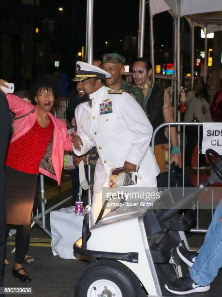 Victor Willis of music band 'Village People' is seen arriving at 86th Annual Hollywood Christmas Parade on November 26 2017 in Los Angeles California