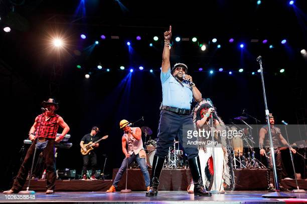 Victor Willis of Village People performs on stage at PNE Amphitheatre on September 2 2018 in Vancouver Canada