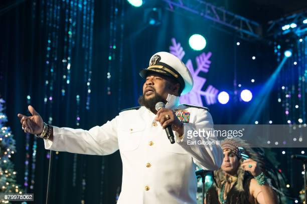 Victor Willis performs with the Village People at the 86th Annual Hollywood Christmas Parade on November 26 2017 in Hollywood California