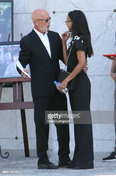 Victor Yelchin Anton Yelchin's father and actress Zoe Saldana attend the Anton Yelchin life celebration and statue unveiling ceremony at Hollywood...