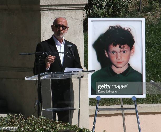 Victor Yelchin Anton Yelchin's father speaks at the Anton Yelchin life celebration and statue unveiling ceremony at Hollywood Forever on October 8...
