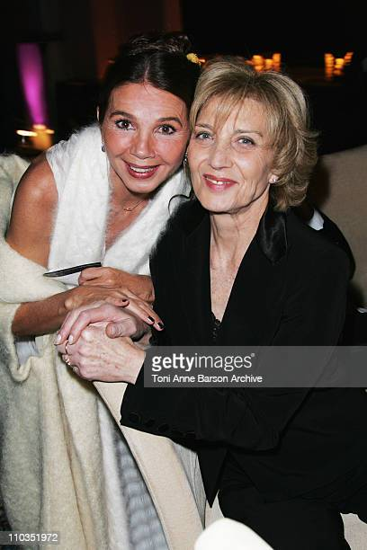 Victoria Abril and Marisa Paredes attend the gala dinner for the 9th Marrakesh Film Festival at the Palais des Congres on December 4, 2009 in...