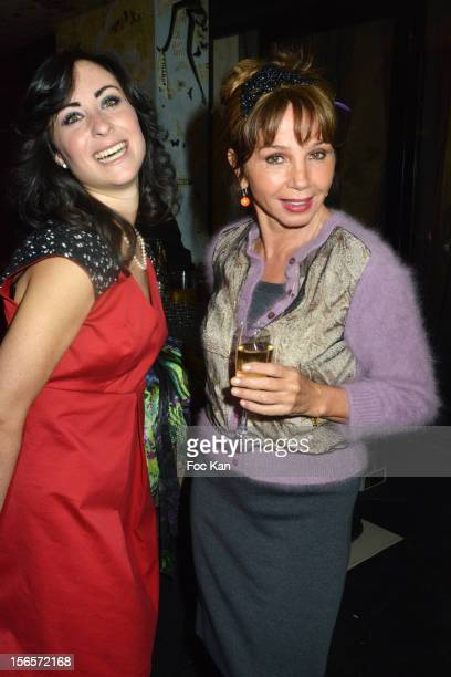 Victoria Abril and Rowena Forrest attend the Rowena Forrest Shop Launch Cocktail at the 'Lady R Forrest' Shop Galerie Royale on November 16 2012 in...