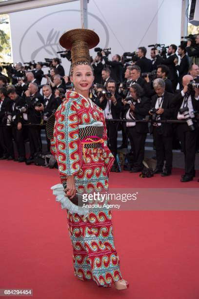 Victoria Abril arrives for the screening of the film 'Les Fantomes dIsmael' out of competition and the Opening Ceremony of the 70th annual Cannes...