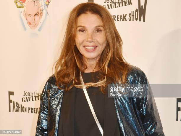 Victoria Abril attends Jean Paul Gaultier Fashion Freak Show Premiere at Follies Bergeres on September 28 2018 in Paris France