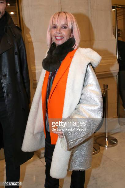 Victoria Abril attends the Jean-Paul Gaultier Haute Couture Spring/Summer 2020 show as part of Paris Fashion Week at Theatre Du Chatelet on January...