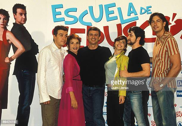 Victoria Abril Javier Veiga Neus Asensi and Javier Balaguer in the premiere of the movie 'Seduction school'
