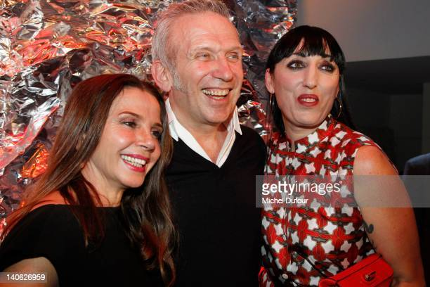 Victoria Abril Jean Paul Gaultier and Rossy de Palma attend the JeanPaul Gaultier ReadyToWear Fall/Winter 2012 show as part of Paris Fashion Week on...