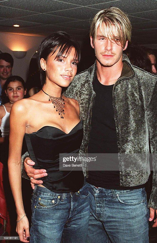 Victoria Adams & David Beckham, Backstage After Whitney Houston Concert, At Wembley Arena, London : News Photo