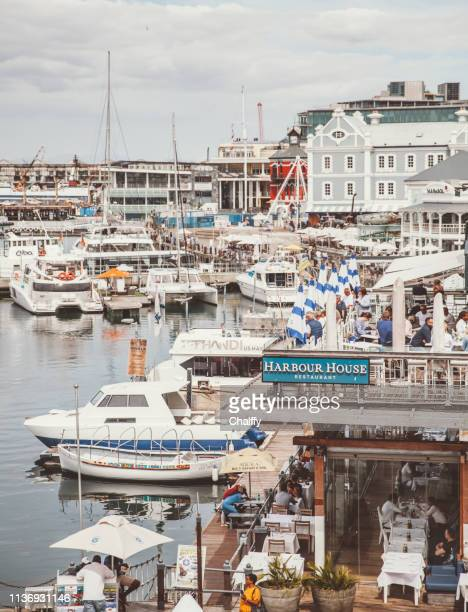 victoria and albert waterfront cape town - quayside stock pictures, royalty-free photos & images