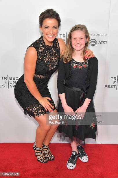 Victoria Arlen and Hayley Wright attend the Shorts Program Locked in during the 2018 Tribeca Film Festival at Regal Battery Park 11 on April 21 2018...