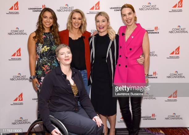 Victoria Arlen Laurel Lawson Nicole Briscoe Sarah Klein and Eglantina Zingg attend WICT Leadership Conference And Touchstones Luncheon at The New...