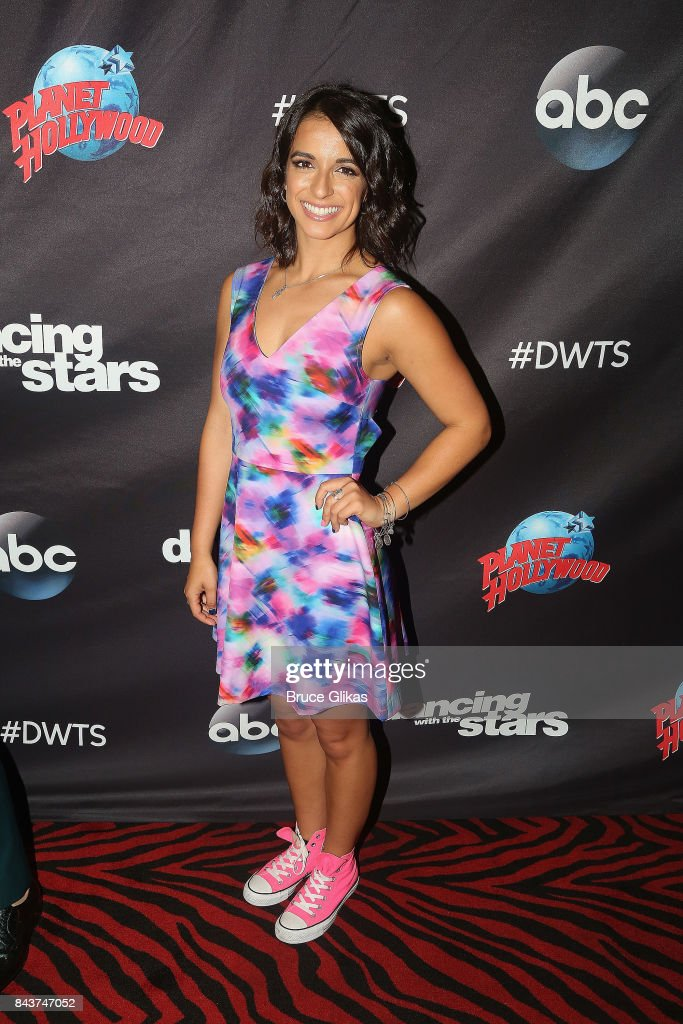 Victoria Arlen poses at ABC's 'Dancing with the Stars' Season 5 cast announcement event at Planet Hollywood Times Square on September 6, 2017 in New York City.