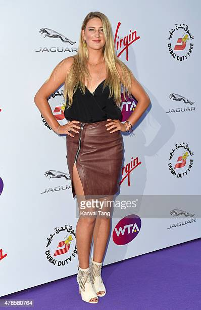 Victoria Azarenka attends the WTA PreWimbledon Party at Kensington Roof Gardens on June 25 2015 in London England