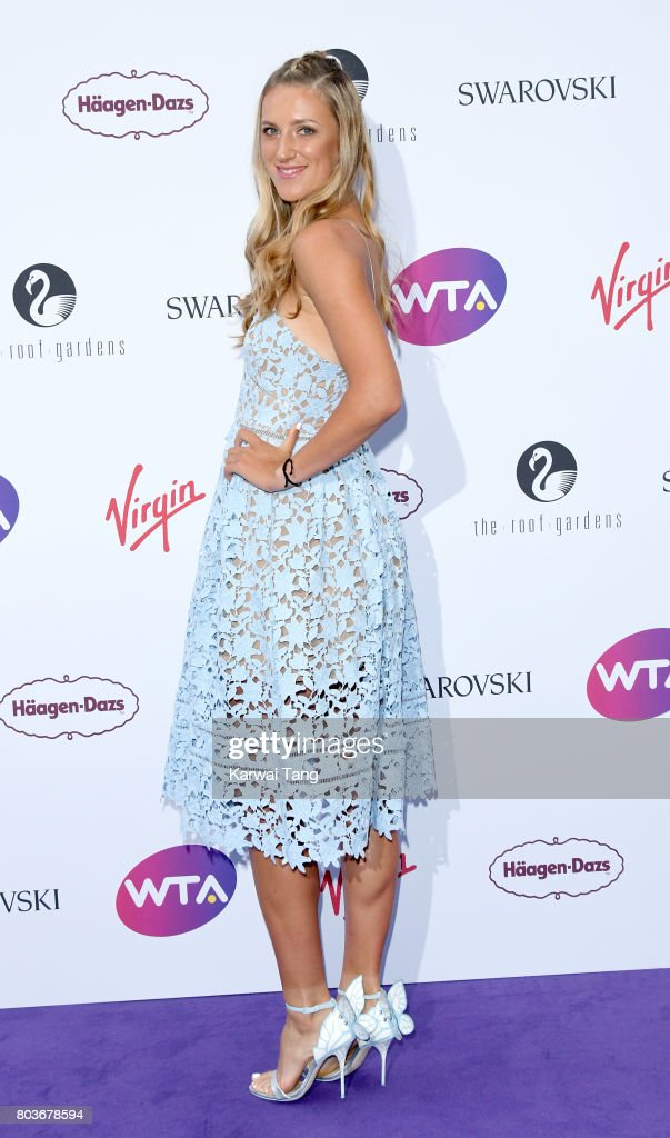 Victoria Azarenka attends the WTA Pre-Wimbledon party at Kensington Roof Gardens on June 29, 2017 in London, England.