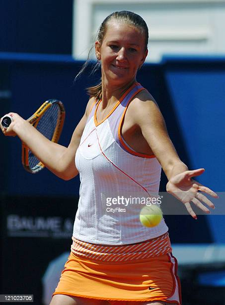 Victoria Azarenka in action during a match between Lucie Safarova at the Tennis 2007 Estoril Open held in Estoril Portugal on May 5, 2007.