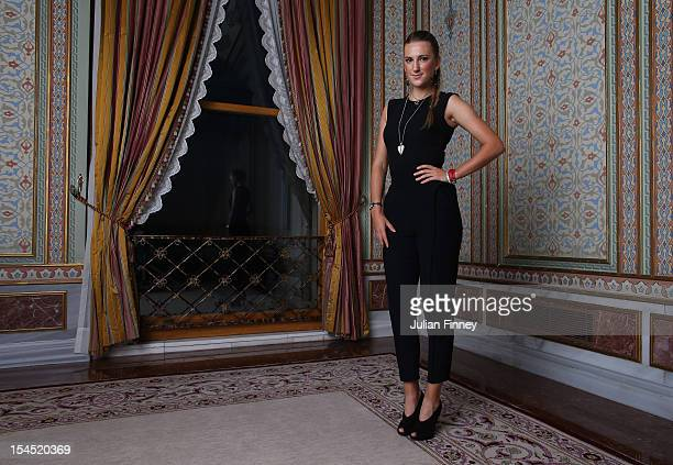 Victoria Azarenka of Belarus poses for a portrait during previews for the TEB BNP Paribas WTA Championships - Istanbul on October 21, 2012 in...