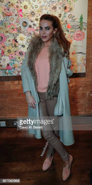 Victoria Barker Harber attend a private view of 'Garden Party' the new exhibition by artist Sage Vaughn at Woodbury House on March 23 2017 in London...