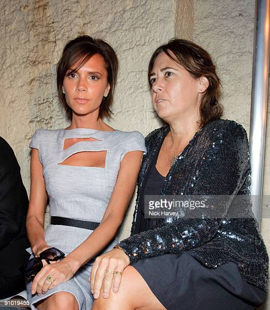 Victoria Beckham and Alexandra Shulman attends the Fashion East show at London Fashion Week Spring/Summer 2010 at Somerset House on September 22 2009...