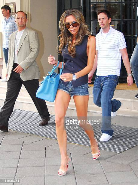 Victoria Beckham and Christian Adams during England Football Players Wives and Girlfriends Depart to Cologne for England's Match Against Sweden - 20...