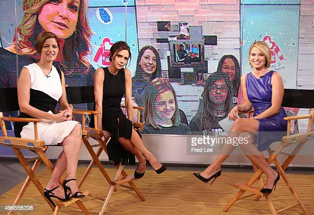 AMERICA Victoria Beckham and Cindi Leive of Glamour Magazine are guests on Good Morning America 11/9/15 airing on the Walt Disney Television via...