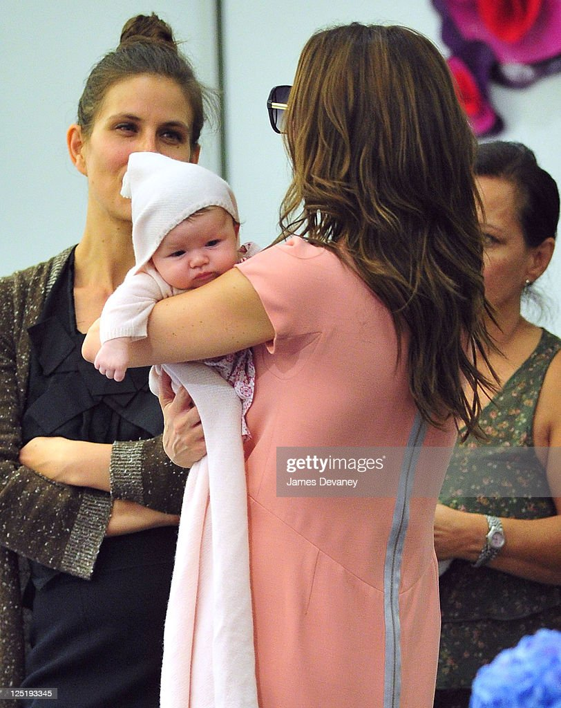 Victoria Beckham and daughter Harper Seven Beckham visit Marc Jacobs in SoHo on September 15, 2011 in New York City.