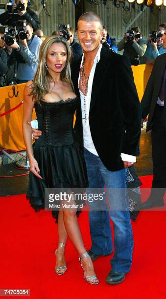 Victoria Beckham and David Beckham at the The Royal Albert Hall in London United Kingdom