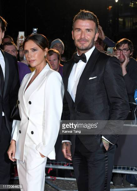 Victoria Beckham and David Beckham attend the GQ Men Of The Year Awards 2019 at Tate Modern on September 03, 2019 in London, England.