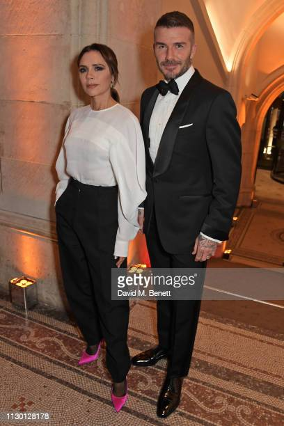 Victoria Beckham and David Beckham attend The Portrait Gala 2019 hosted by Dr Nicholas Cullinan and Edward Enninful to raise funds for the National...